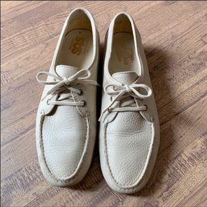 SAS Amigo Cream Leather Walking Comfort Shoe 12